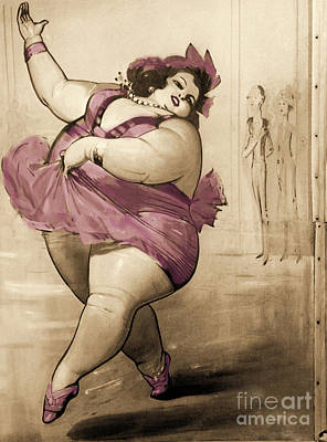Plus Painting - Circus Fat Lady by Mindy Sommers