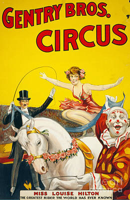 Drawing - Circus, Gentry Bros., C1930.  by Granger