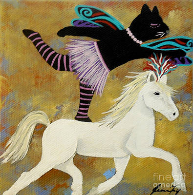Painting - Circus Kitty Series Trust by Jean Fry