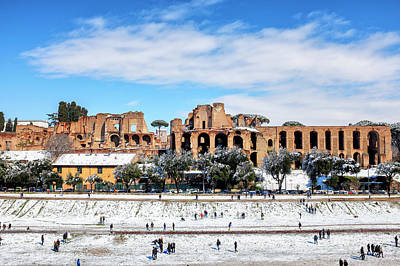 Photograph - Circus Maximus Under The Snow by Fabrizio Troiani