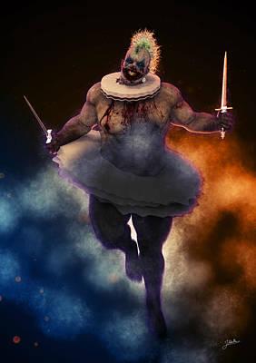 Violent Digital Art - Circus Of Horrors - Cannibal Clown by Joaquin Abella