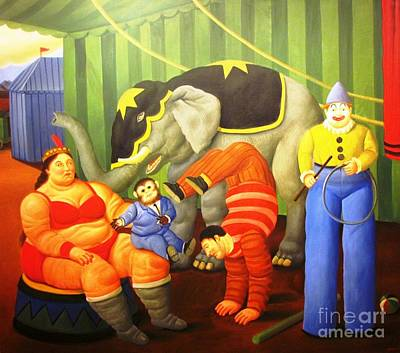 Photograph - Circus Performers Botero by Ted Pollard
