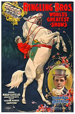 Photograph - Circus Playbill 1899 by Padre Art