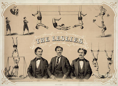 Photograph - Circus Poster - 'the Leslies' by Granger