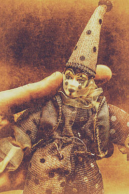 Colored Background Photograph - Circus Puppeteer  by Jorgo Photography - Wall Art Gallery