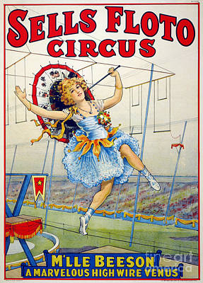 Drawing - Circus, Sells Floto, 1921.  by Granger