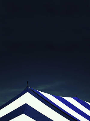 Photograph - Circus Tent In Dark Cobalt Sky  by Brooke T Ryan