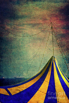 Circus With Distant Ships II Art Print