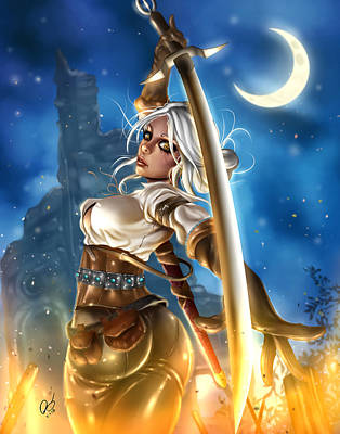 Painting - Ciri by Pete Tapang