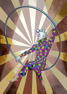 Jester Digital Art - Cirque  by Quim Abella