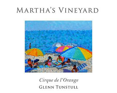 Cape Cod Bay Painting - Cirque De L'orange Poster by Glenn Tunstull