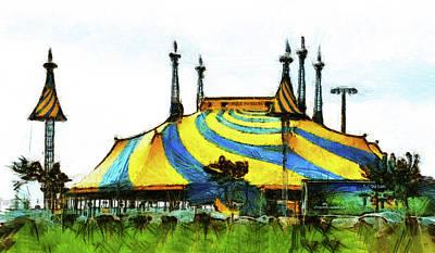 Mixed Media - Cirque Du Soleil Set Up by Joseph Hollingsworth