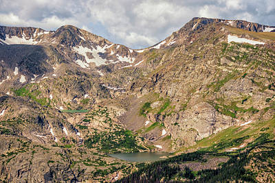 Mountain Photograph - Cirque Lakes In Rocky Mountain National Park by Loree Johnson