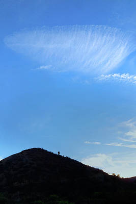 Photograph - Cirrus Clouds And Blue Sky by Ram Vasudev