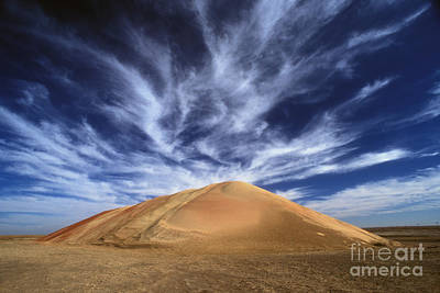 Photograph - Cirrus Clouds Over Sand Dune by Jim Reed