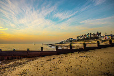 Greenman Photograph - Cirrus Clouds Over Southwold Beach. Suffolk by Lee Thornberry