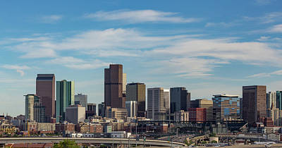 Baseball Royalty-Free and Rights-Managed Images - Cirrus Clouds Over the Denver Skyline by Bridget Calip