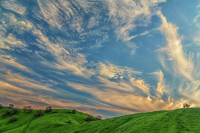 Nirvana - Cirrus Couds Over Green Hills by Marc Crumpler
