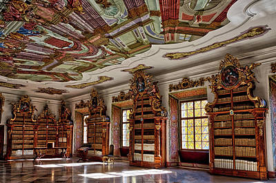 Photograph - Cistercian Monastery Library #2 - Czech Republic by Stuart Litoff