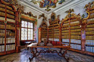 Photograph - Cistercian Monastery Library #3 - Czech Republic by Stuart Litoff