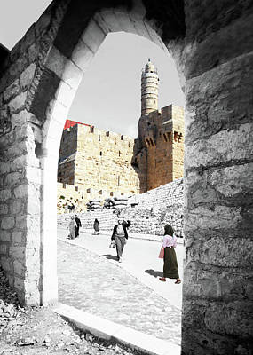 Photograph - The Jerusalem Citadel by Munir Alawi