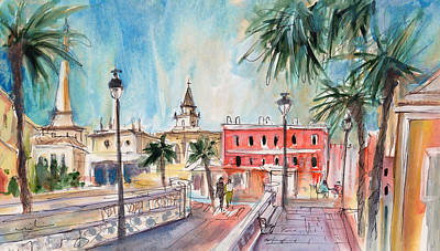 Painting - Citadel Of Minorca 05 by Miki De Goodaboom