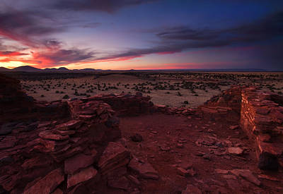 Pueblo Photograph - Citadel Sunset by Mike  Dawson