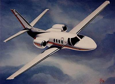Wall Art - Painting - Citation 500 by Peter Ring Sr