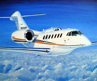 Wall Art - Painting - Citation 750-10 N200ap by Peter Ring Sr