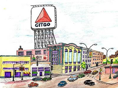 Drawing - Citco Boston by Paul Meinerth