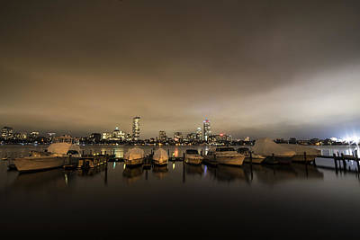 Photograph - Citgo Sign Through The Boats On The Charles River Boston Ma Massachusetts Wide Angle by Toby McGuire