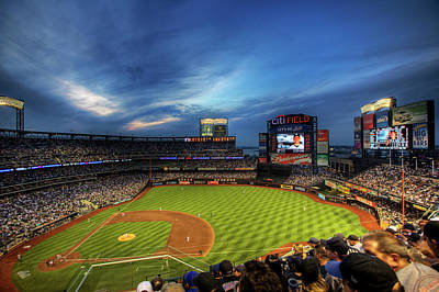 Diamonds Photograph - Citi Field Twilight by Shawn Everhart