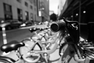 Photograph - Citibike Handle Manhattan Black And White  by Alissa Beth Photography