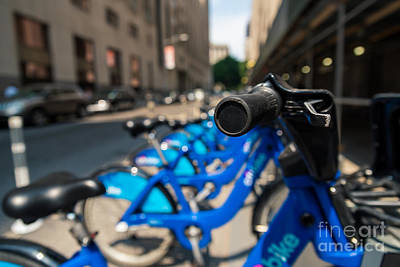 Photograph - Citibike Handle Manhattan Color by Alissa Beth Photography