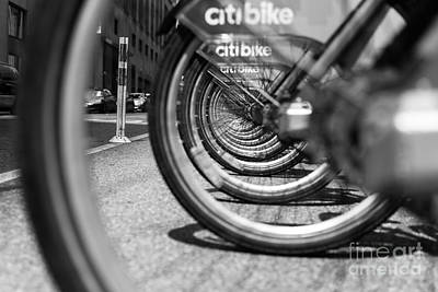 Photograph - Citibike Manhattan Black And White by Alissa Beth Photography