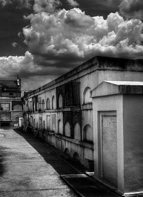 Photograph - Cities Of The Dead In Black And White by Chrystal Mimbs