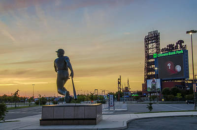 Baseball. Philadelphia Phillies Photograph - Citizens Bank Park Sunrise by Bill Cannon
