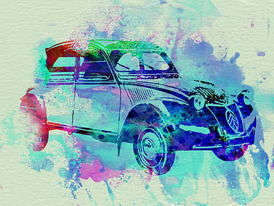 Racing Painting - Citroen 2cv by Naxart Studio
