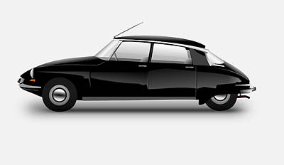 Digital Art - Citroen ds 1955 by Erik Lundgren