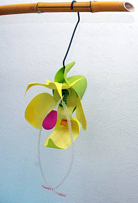 Mixed Media - Citron Orchid by Michael Jude Russo