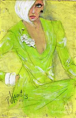 Lime Drawing - Citron by P J Lewis