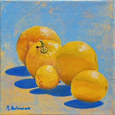 Painting - Citronade by Muriel Dolemieux