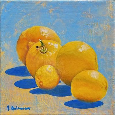 Painting - Citronade by Muriel Dolemieux
