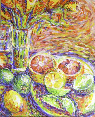 Citrus And Flowers Original by Melissa Brazeau