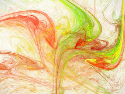Digital Art - Citrus Delight Abstract 1 by Andee Design