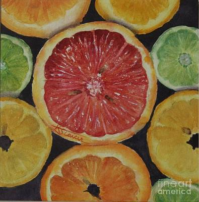 Painting - Citrus Delight by Kathy Staicer