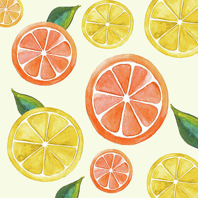 Digital Art - Citrus Fruit by HH Photography of Florida