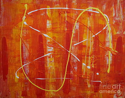 Painting - Orange Splash by Jimmy Clark