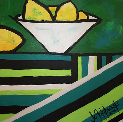 Citrus Stripes, Green Original