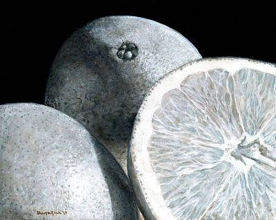 Painting - Citrus Sunshine In Monochrome by Shana Rowe Jackson